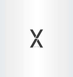 Black letter x and v logo sign vector