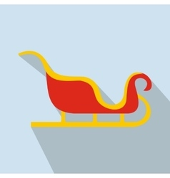 Christmas sleigh flat icon vector