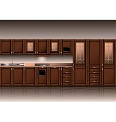 Classic style kitchen vector