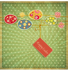 vintage easter background vector image