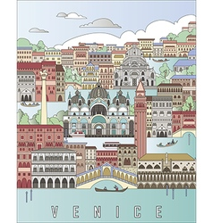 Venice city poster vector