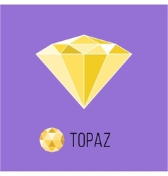 Topaz flat icon with top view rich luxury symbol vector