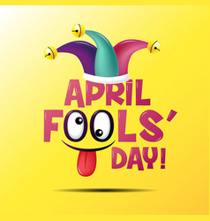 April fools day typography colorful vector
