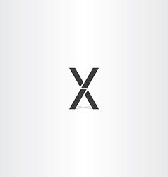 black letter x and v logo sign vector image vector image