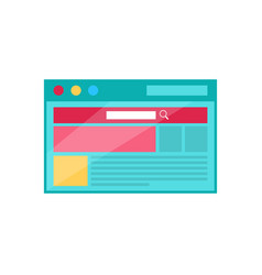 browser page concept icon in flat style design vector image