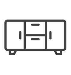 buffet line icon furniture and interior vector image vector image