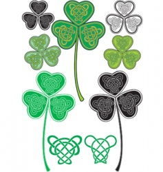 celtic leaf logos vector image