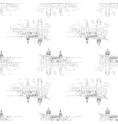 Charles bridge seamless vector