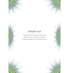 Colorful page border design template vector image vector image