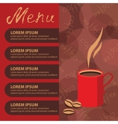Corporate identity of menu cafe background coffee vector