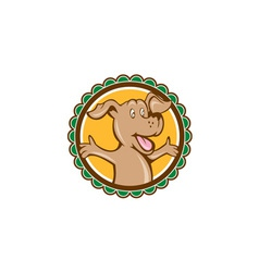 Dog Arms Out Rosette Cartoon vector image