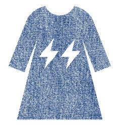 Electric energy girl dress fabric textured icon vector