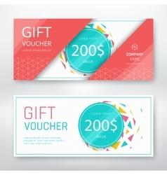 Gift voucher template vector