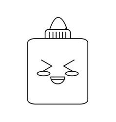 Glue bottle cartoon vector