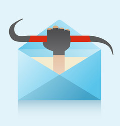 Hacker and phishing mail vector