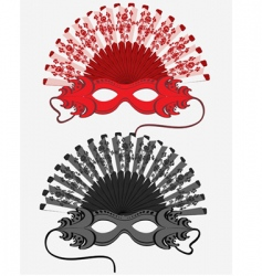 handheld fan and a mask vector image