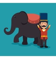 Host elephant circus show festival funfair vector