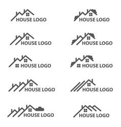 House logo set vector