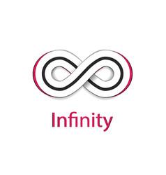 infinity symbol logo vector image vector image
