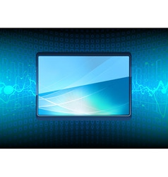 Modern plasma tv screen vector