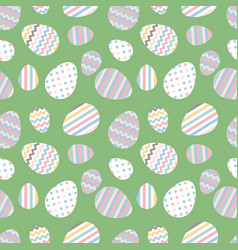 Pastel seamless pattern with easter eggs vector