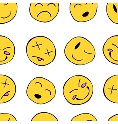 Pattern with smiley vector image
