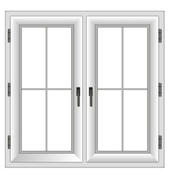 Plastic closed double window vector