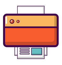 printer icon cartoon style vector image vector image