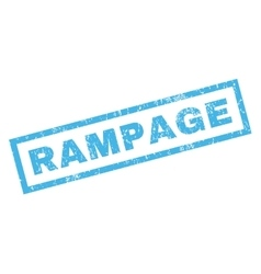 Rampage Rubber Stamp vector image vector image