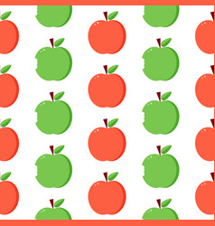 red and green apples seamless pattern background vector image vector image