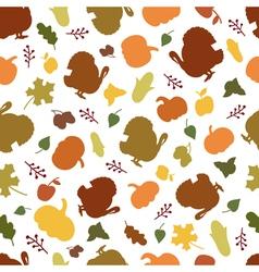 Seamless pattern of autumn symbols vector