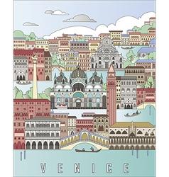 Venice city poster vector