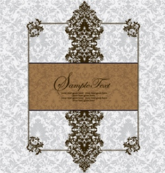 Vintage card design for wedding invitation vector image vector image