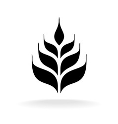 Wheat icon Simple black logo silhouette vector image