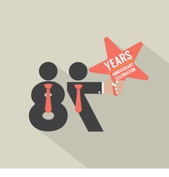 87th years anniversary typography design vector