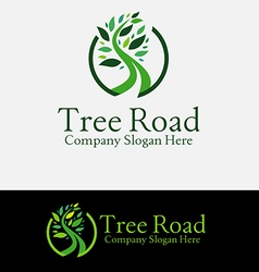 Green Tree Road Logo vector image