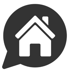 House mention flat icon vector