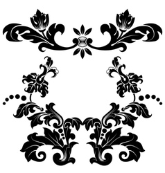Stylized floral pattern vector image