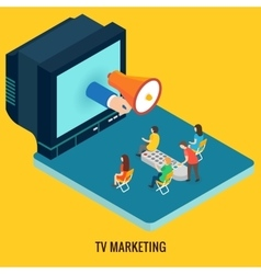 Tv marketing concept vector