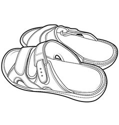 Flip flop sandal shoes for men vector