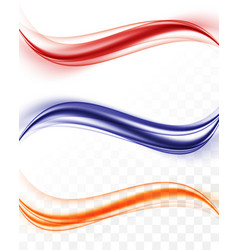 Abstract smooth waves collection vector