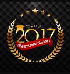 Congratulations on graduation 2017 class vector