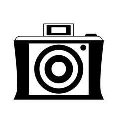 vintage photographic camera icon image vector image