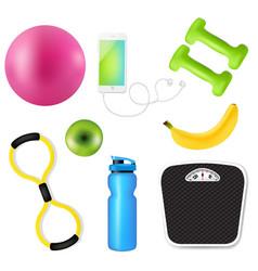 Sport fitness set vector