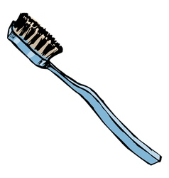 tooth brush vector image