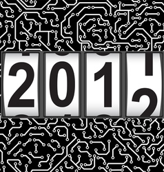 2012 new year counter vector image vector image