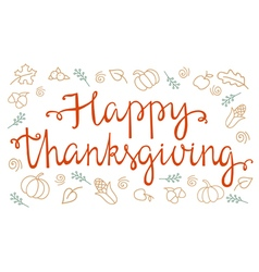 Quote happy thanksgiving vector image