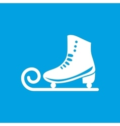 Ice skate icon vector