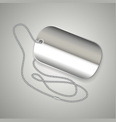 Metal dog tag vector