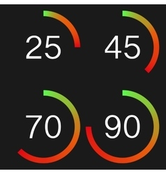 A digital speedometer vector